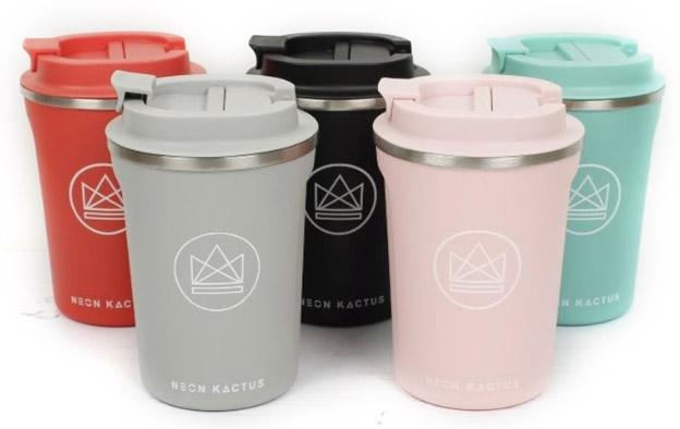 Neon kactus - duurzame koffiebekers to go