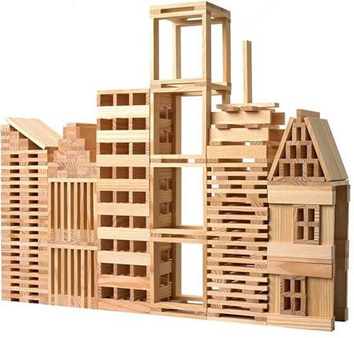 Kapla duurzaam houten speelgoed om te bouwen