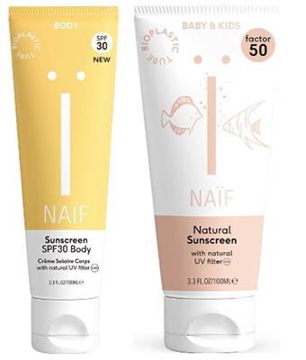 Naïf - natuurlijke zonnebrandcrème voor baby, kinderen en volwassenen - zonder nanodeeltjes, zonder witte waas