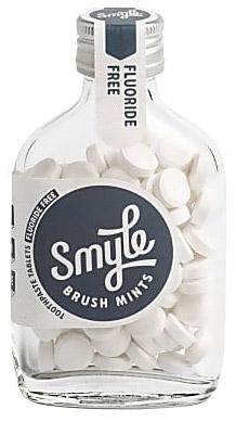 Smyle tandpasta tabletten in glazen flesje