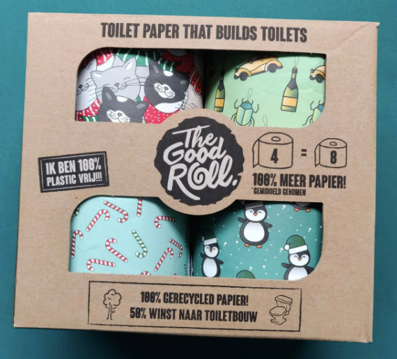 Duurzaam toiletpapier als cadeau